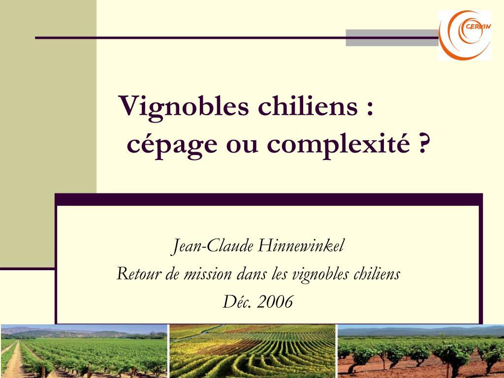vignobles chiliens c page ou complexit
