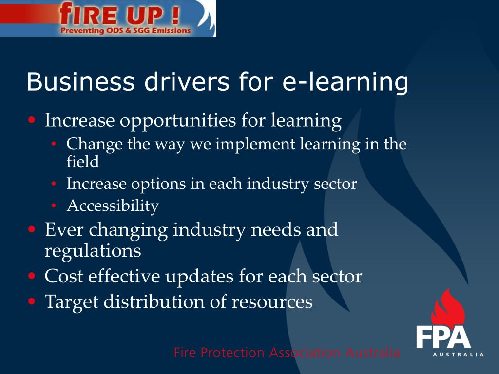 Business drivers for e-learning
