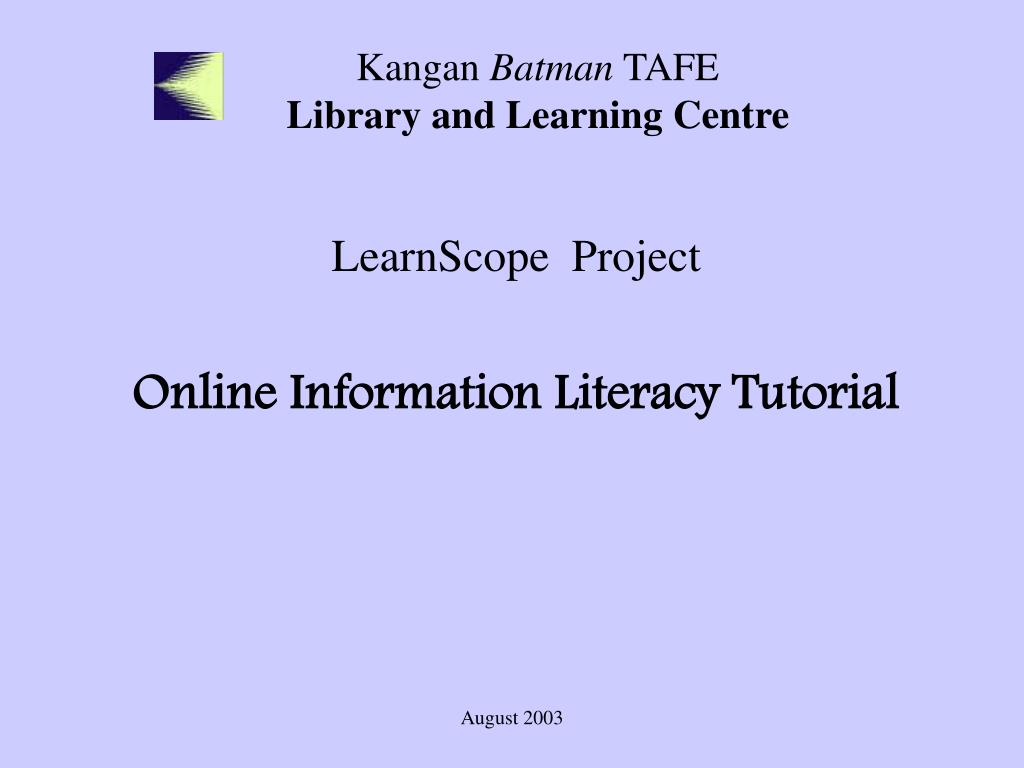 kangan batman tafe library and learning centre l.