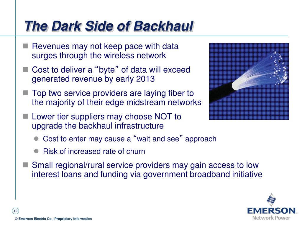 The Dark Side of Backhaul