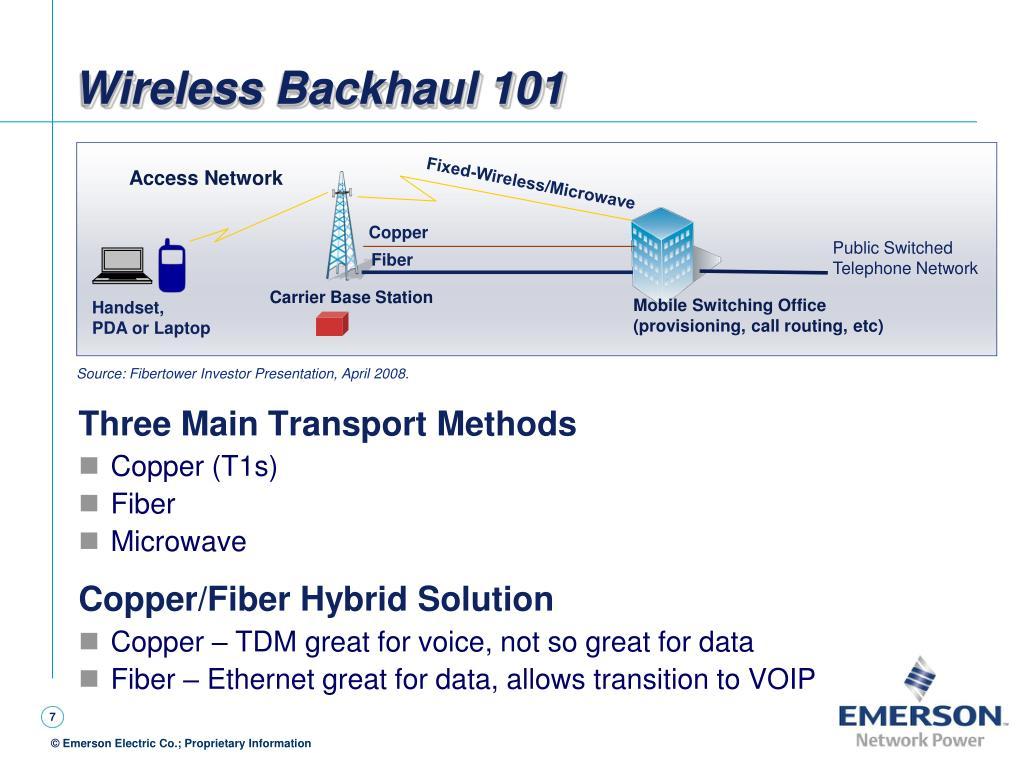 Wireless Backhaul 101