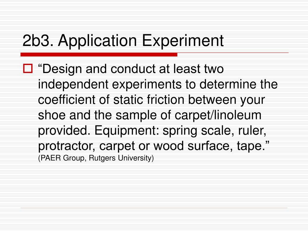 2b3. Application Experiment