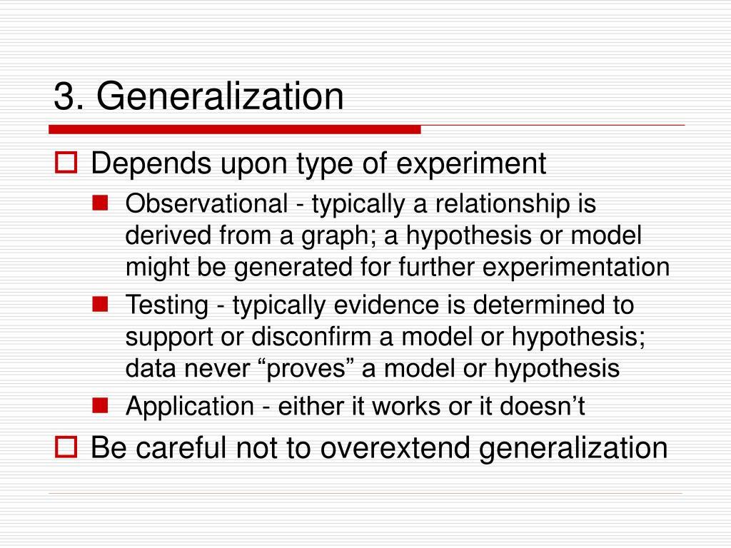 3. Generalization