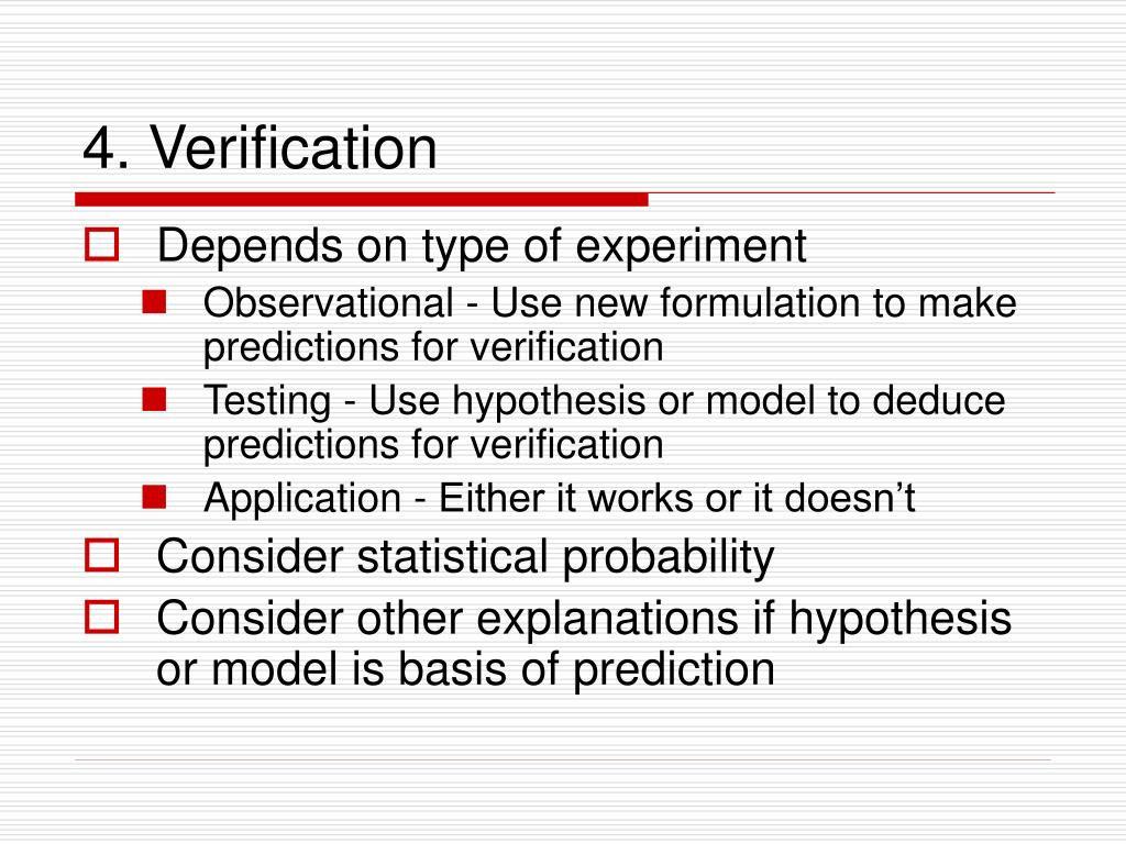 4. Verification