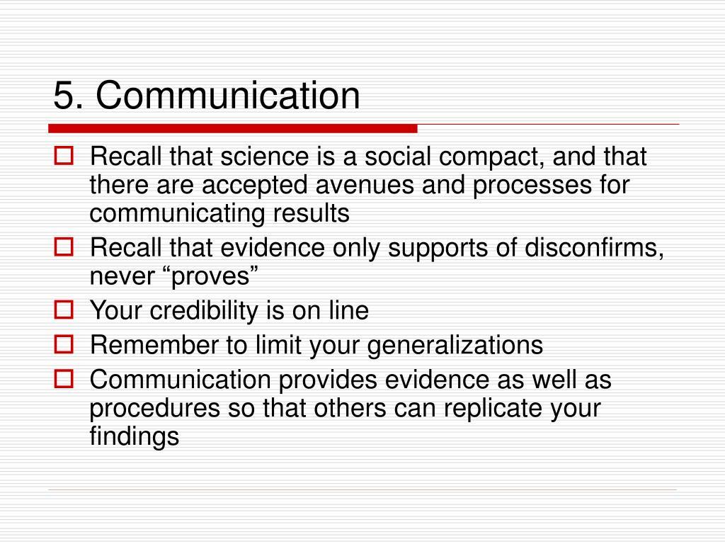 5. Communication