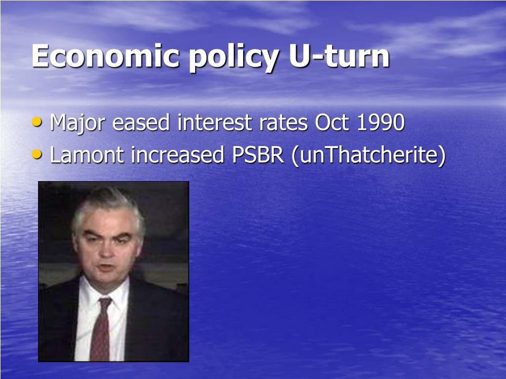Economic policy U-turn