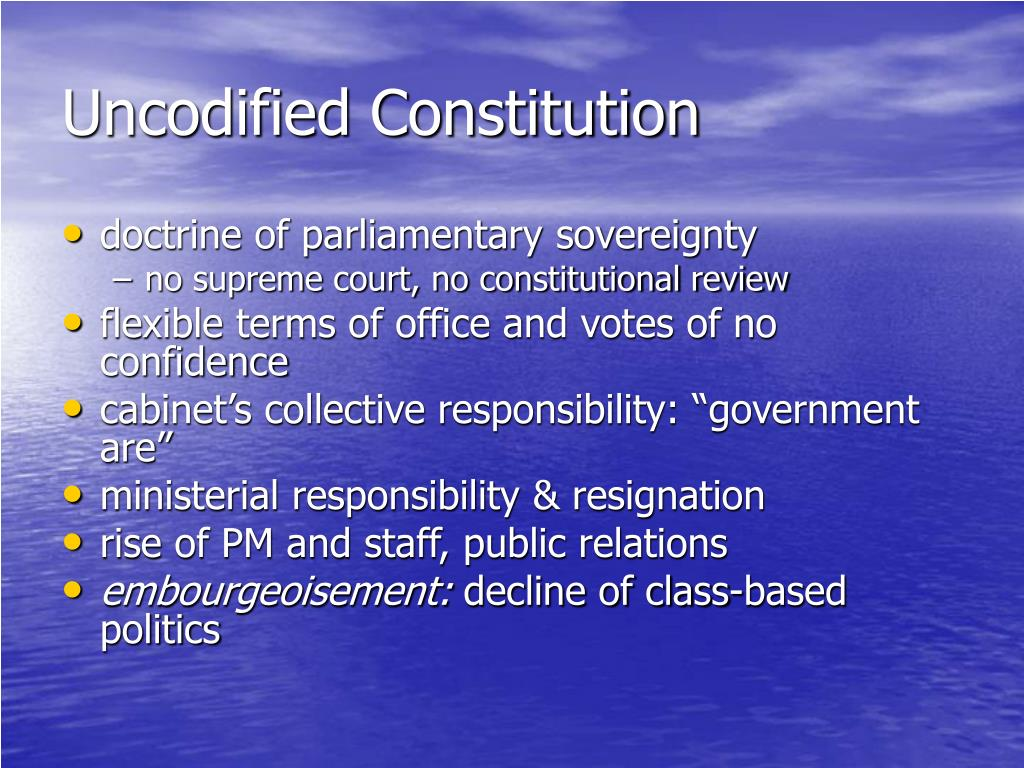 Uncodified Constitution