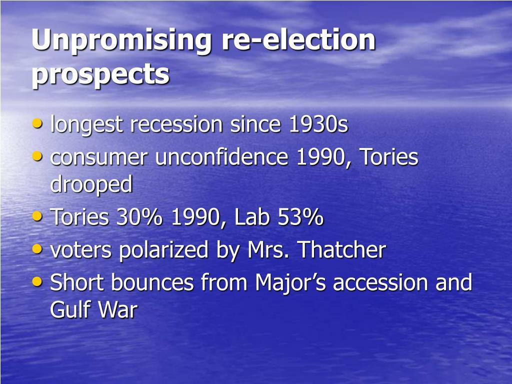 Unpromising re-election prospects