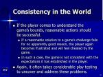 consistency in the world26