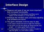 interface design62