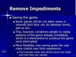 remove impediments52