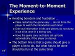 the moment to moment experience18