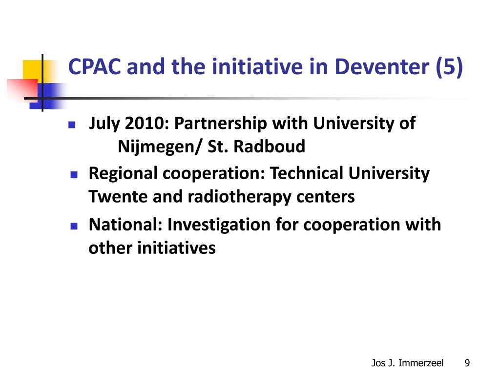 CPAC and the initiative in Deventer (5)