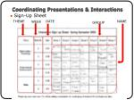 coordinating presentations interactions