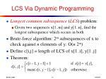 lcs via dynamic programming