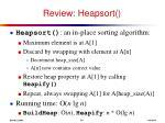 review heapsort