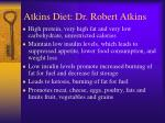 atkins diet dr robert atkins