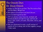 the ornish diet dr dean ornish