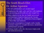 the south beach diet dr arthur agatston