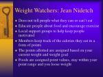 weight watchers jean nidetch