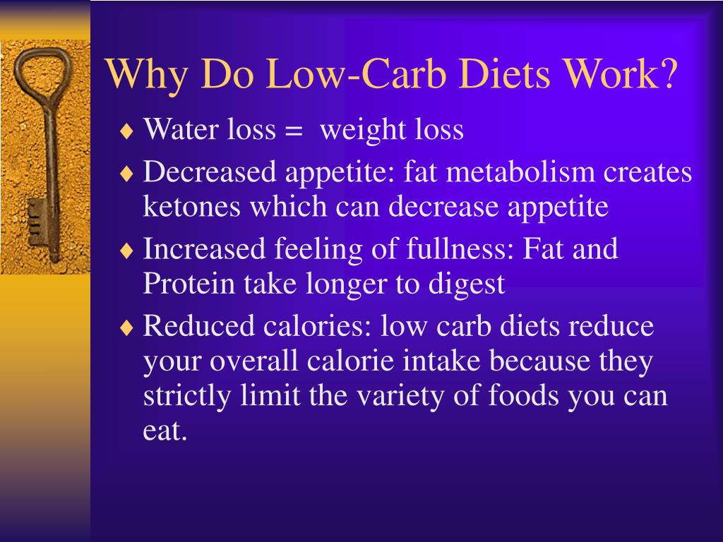 Why Do Low-Carb Diets Work?