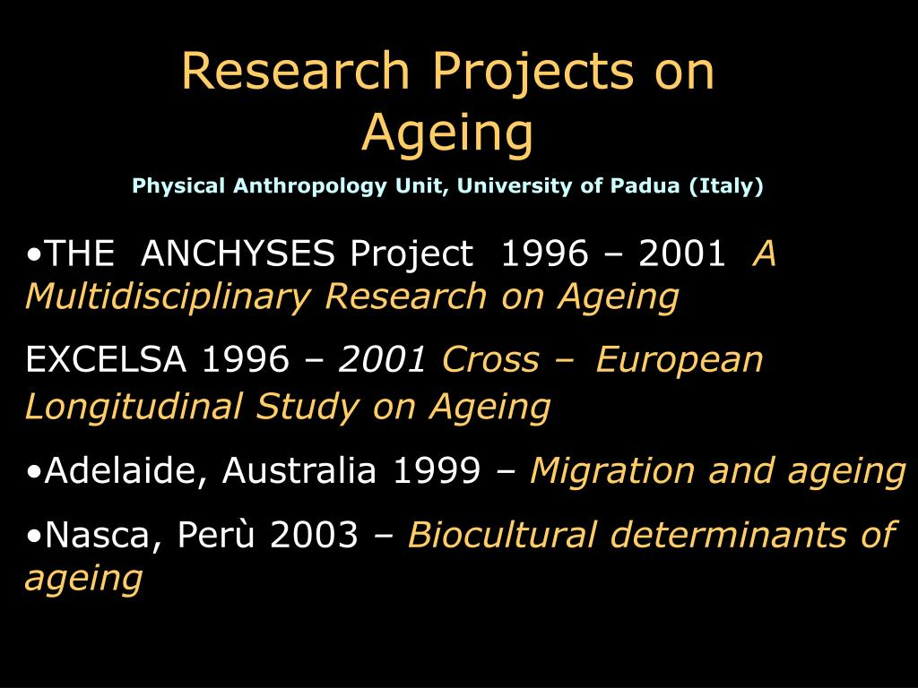 Research Projects on Ageing