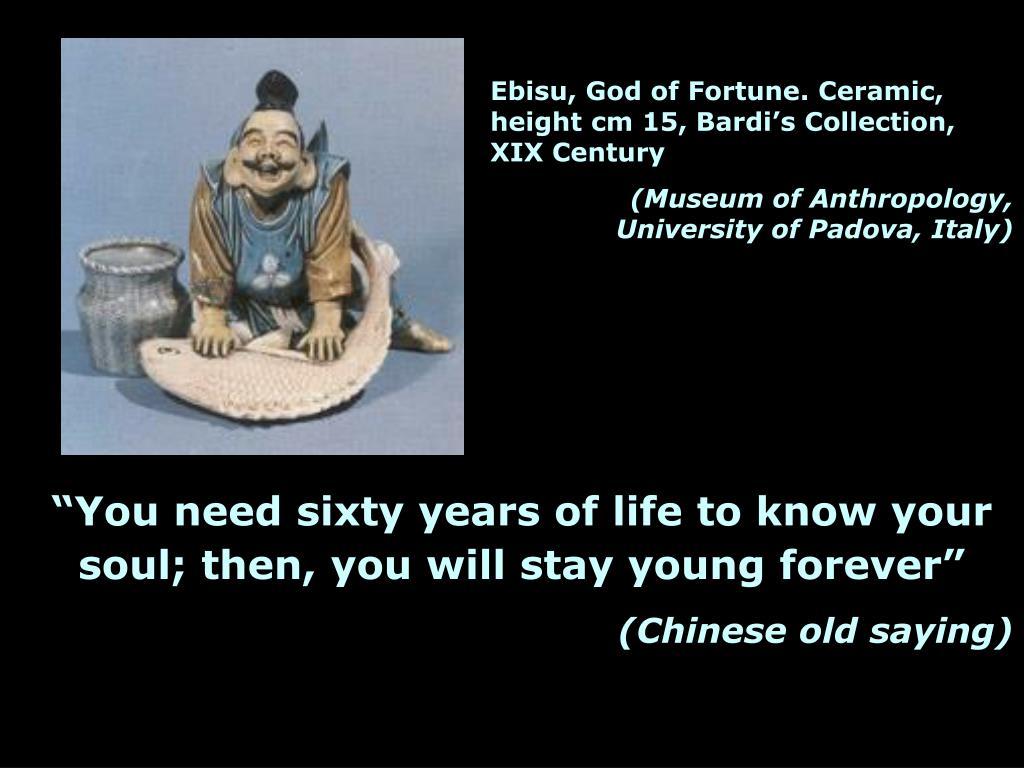 Ebisu, God of Fortune. Ceramic, height cm 15, Bardi's Collection, XIX