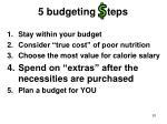 5 budgeting teps81