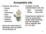 acceptable oils