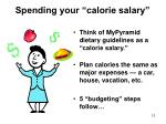 spending your calorie salary