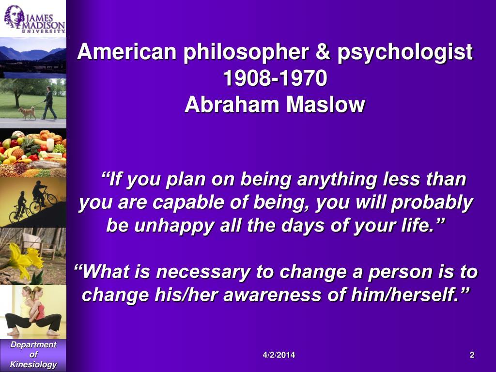 American philosopher & psychologist