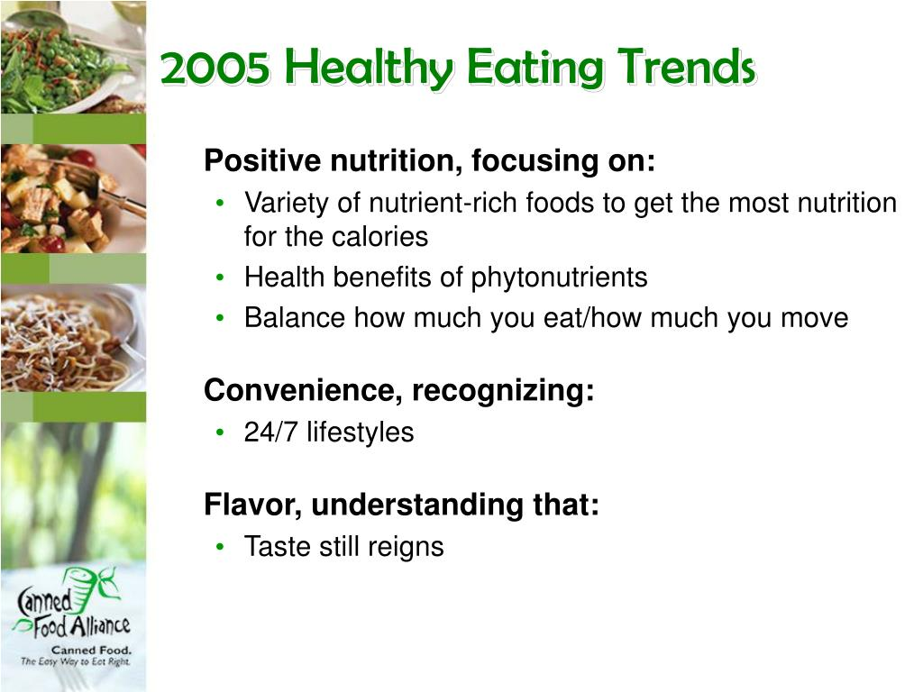 2005 Healthy Eating Trends