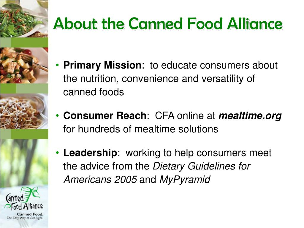 About the Canned Food Alliance