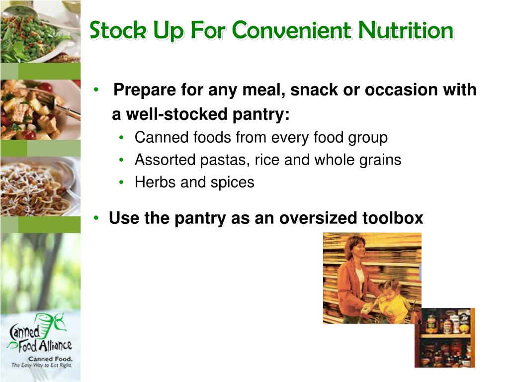Stock Up For Convenient Nutrition