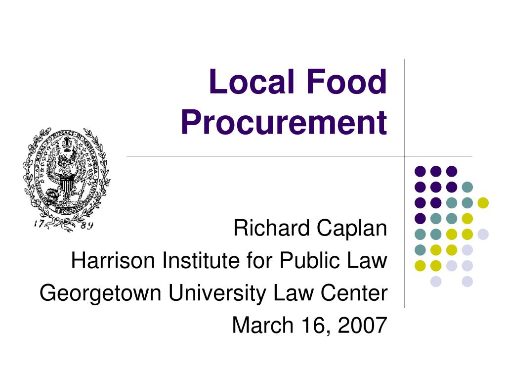 local food procurement l.
