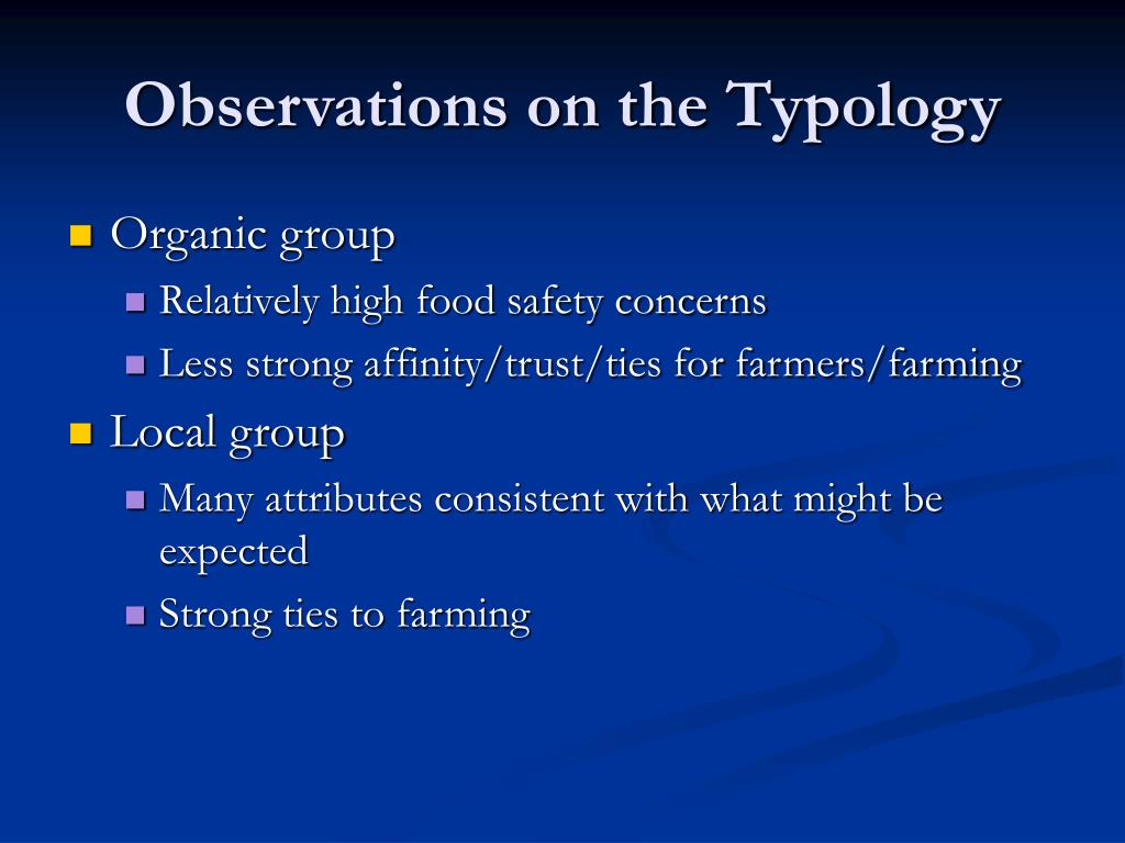 Observations on the Typology