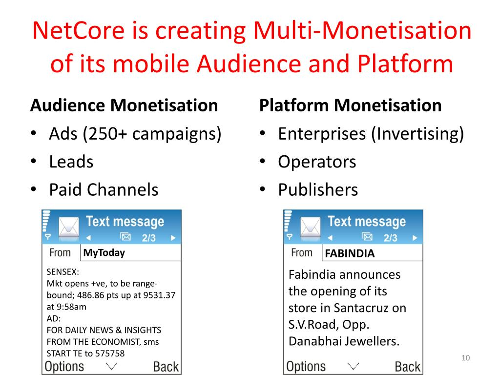 NetCore is creating Multi-Monetisation of its mobile Audience and Platform