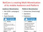 netcore is creating multi monetisation of its mobile audience and platform