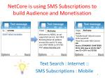 netcore is using sms subscriptions to build audience and monetisation
