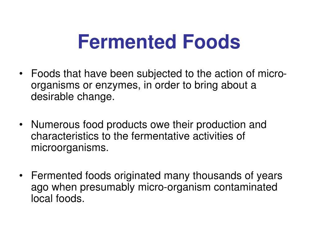 fermented foods l.