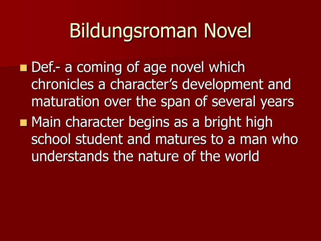 bildungsroman novels