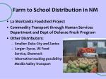 farm to school distribution in nm