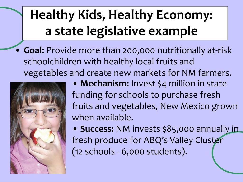 Healthy Kids, Healthy Economy:
