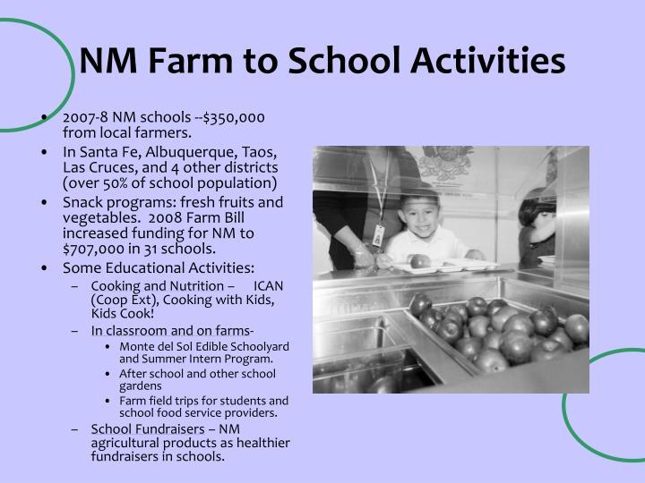 Nm farm to school activities