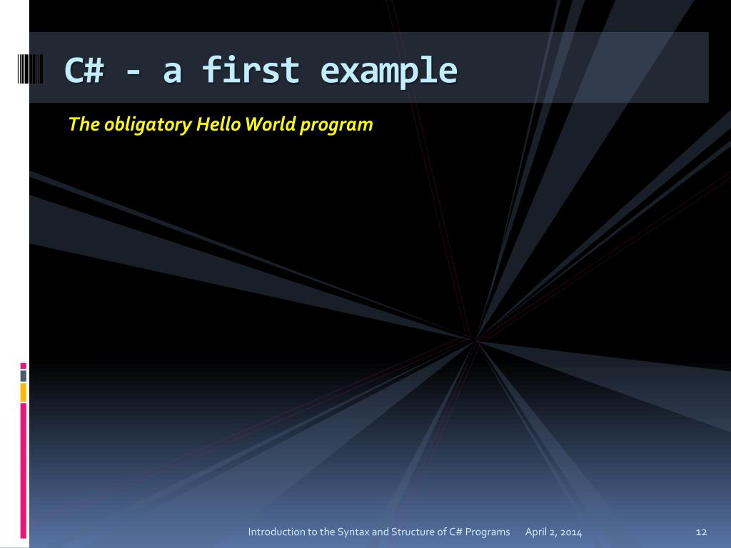 C# - a first example