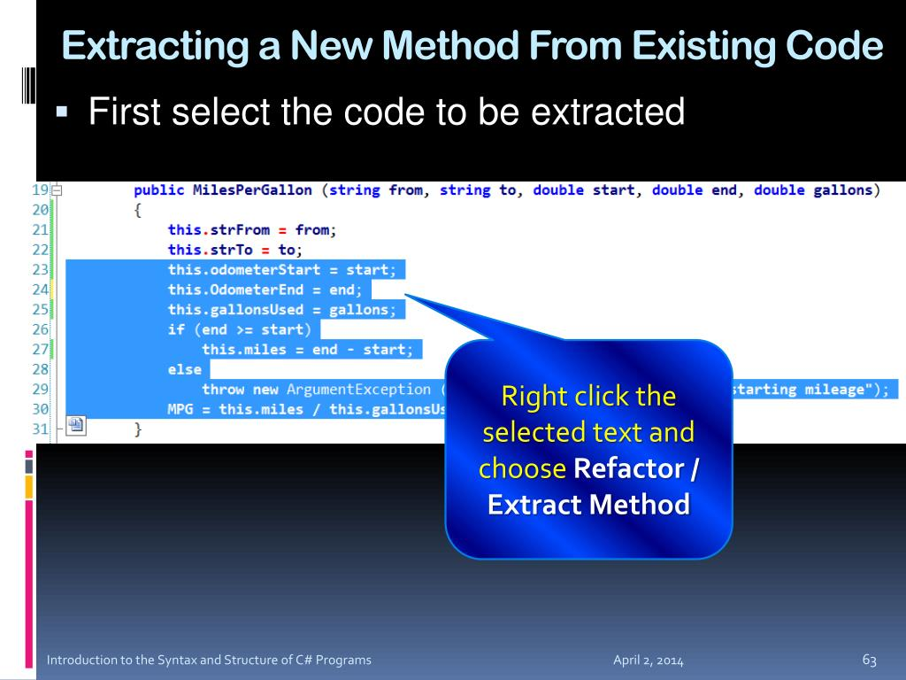 Extracting a New Method From Existing Code