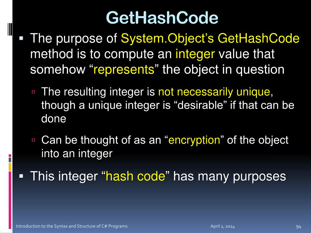 GetHashCode