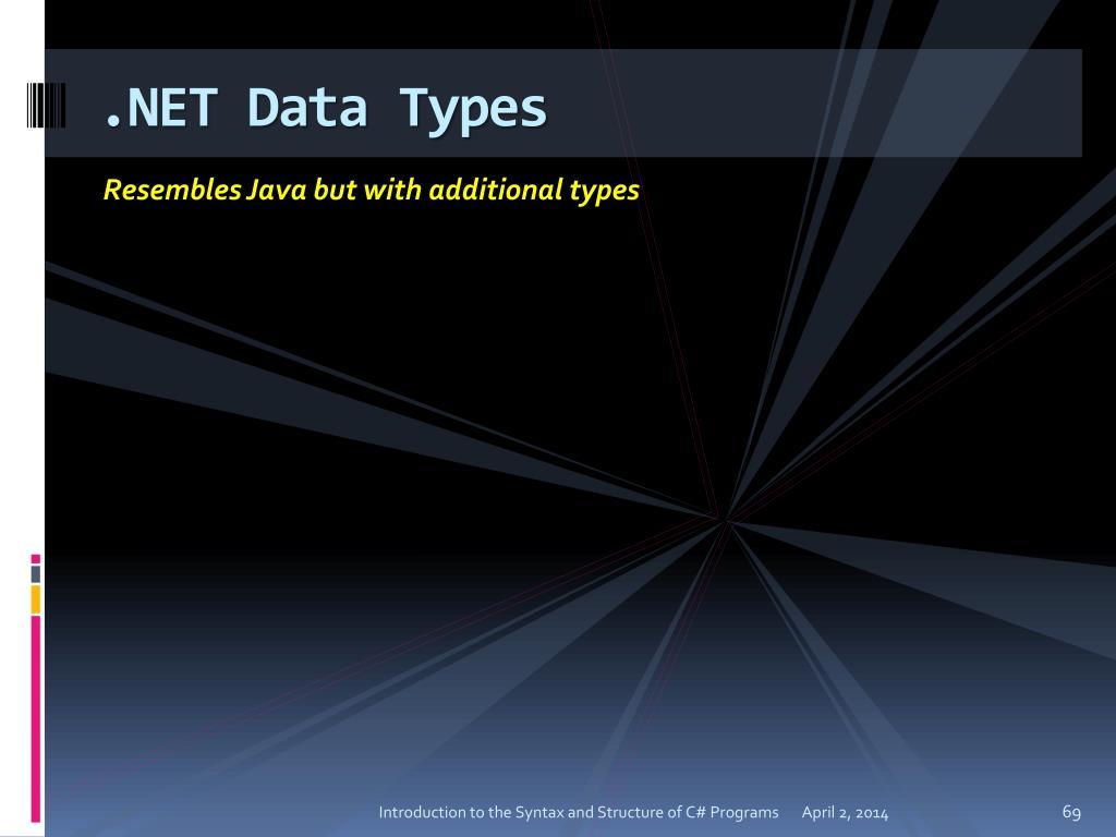 .NET Data Types