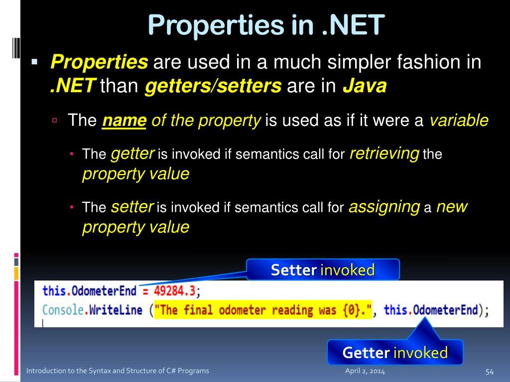 Properties in .NET