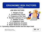 ergonomic risk factors22